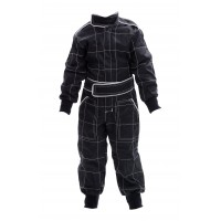 Kids Polycotton Racesuit - BLACK