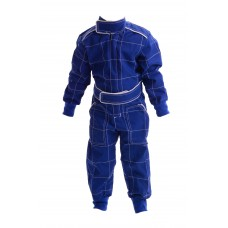 Kids Polycotton Racesuit - BLUE