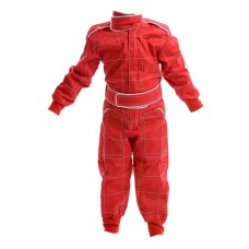 Kids Polycotton Racesuit - RED