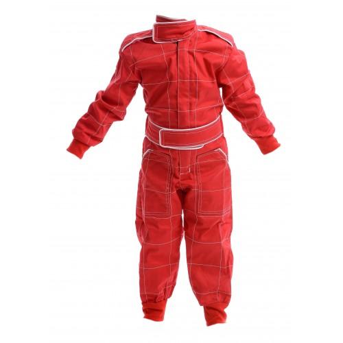 Kids Polycotton Racesuit - RED