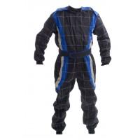 PROBAN Race Suit - Adult - Black / Blue / Grey