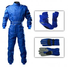 Junior Outdoor Kart Suit Package Blue