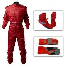 Junior Outdoor Kart Suit Package Red