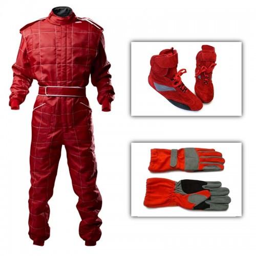 Junior Outdoor Kart Suit Package Red