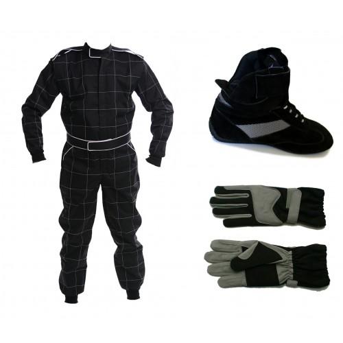 2013 CIK Level 2 Kart Suit Package Black ADULT