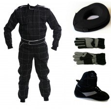 Bambino/Cadet/Junior 2013 CIK Level 2 Kart Suit Package Black